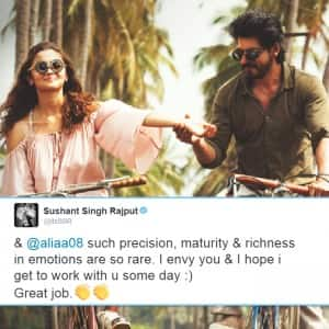 Bollywood celebs have mind blowing review for Shah Rukh Khan and Alia Bhatt's Dear Zindagi