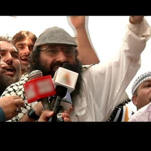Rajnath Singh Pakistan visit: Hizbul Mujahideen chief leads protest ahead of Rajnath Singh's arrival
