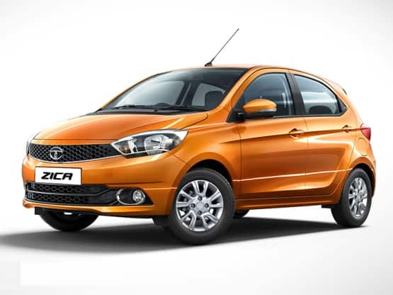 Tata Zica hatch gets attractive and sleeky design with body coloured bumpers that houses air dam and fog lamps along with 14-inch 10-spoke alloy wheels