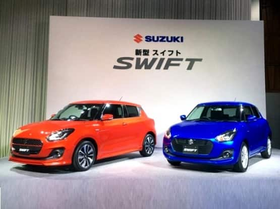 The new generation Suzuki Swift 2017 hatchback is more prominent in terms of exterior design at it gets large hexagonal grille along with sweptback automatic LED headlamps and wider air dam with integrated fog lamps that accentuates the overall appeal of the hatch.