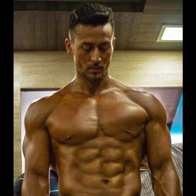 Tiger Shroff snapped in gym