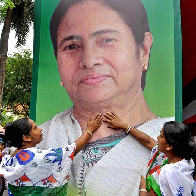 TMC supporters celebrate party   s victory in state elections