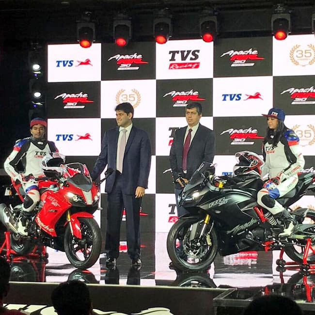 TVS Apache RR 310  Akula 310  gets a new vertically aligned instrument cluster