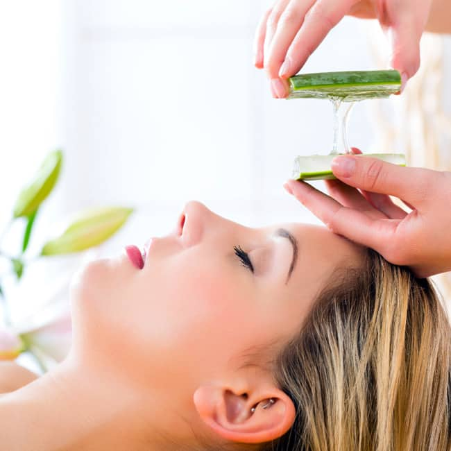 Use Aloe Vera on your face on regular basis