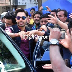 Varun Dhawan spotted in 'Badrinath Ki Dulhania' look, fans went crazy