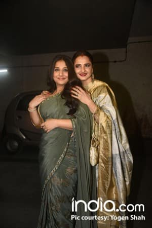 Tumhari Sullu screening: Rekha, Sachin Tendulkar, Neha Dhupia couldn't miss to praise Vidya Balan