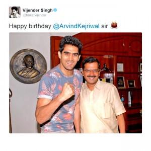 Happy Birthday Arvind Kejriwal: Narendra Modi and other celebs send birthday wishes via twitter