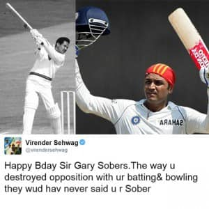 On Virender Sehwag's birthday; 10 times he proved he would have been a POET if not CRICKETER!