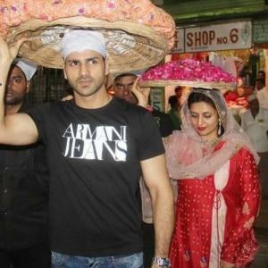Newly-weds Divyanka Tripathi and Vivek Dahiya visit Dargah Ajmer Sharif with Pihu of Yeh Hai Mohabbatein!