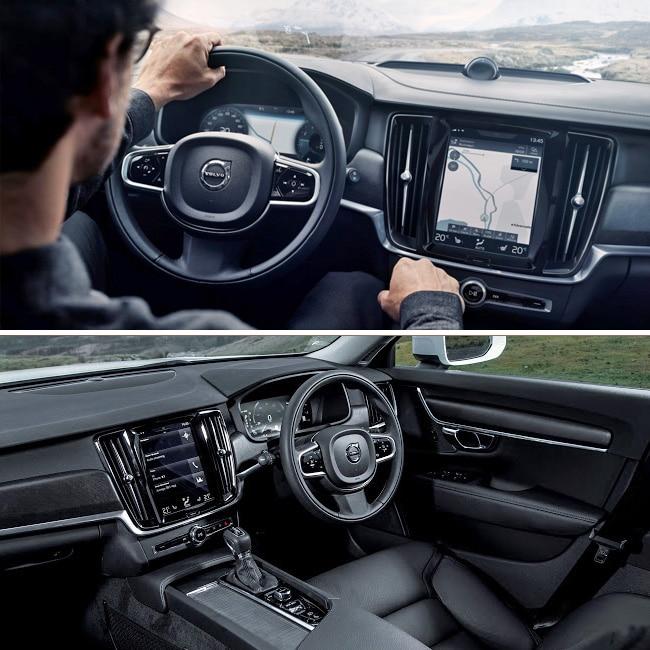 Onyx Black Volvo Xc60 Inscription With Maroon Brown: Volvo V90 Cross Country Design