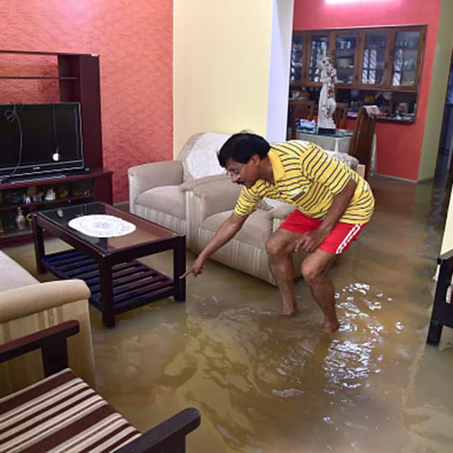 Water enters a house in Bengaluru