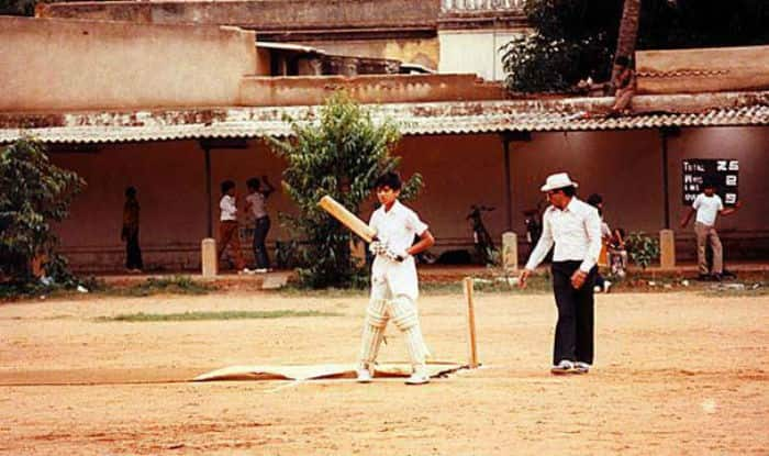 Young Rahul Dravid clicked while practising
