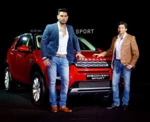 Yuvraj Singh and Narain Karthikeyan at launch of Discovery Sport by Land Rover (view pics)