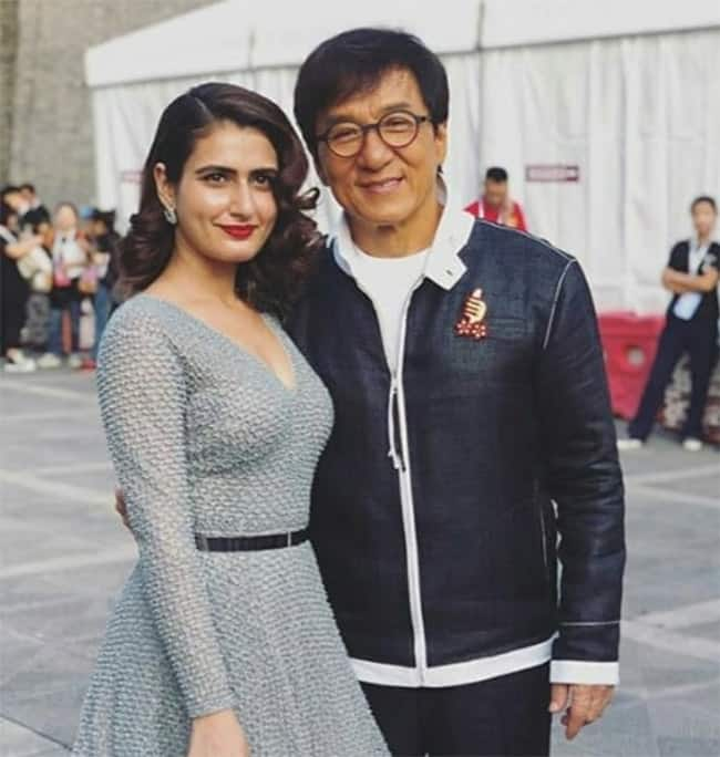 Dangal Stars Fatima Sana Shaikh and Sanya Malhotra Meets Legendary Actor Jackie Chan