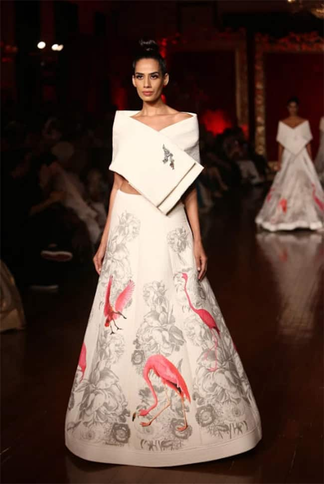 Rohit Bal s 2018 Autumn Winter Collection For India Couture Week Inspired by The Flowers in Kashmir