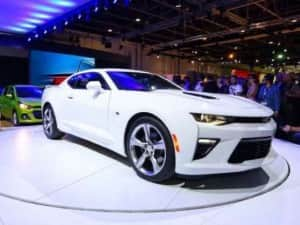 2015 Chevrolet Camaro showcased at 2015 Dubai International Motor Show