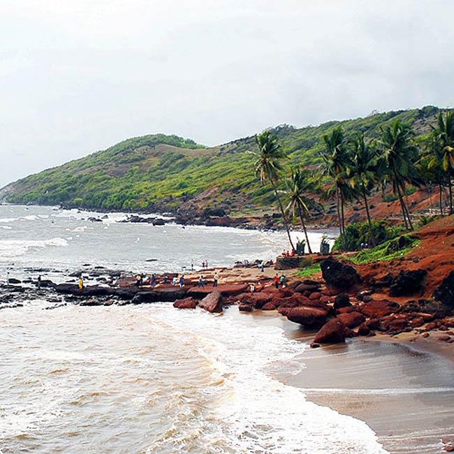 A picture of Anjuna Beach in Goa