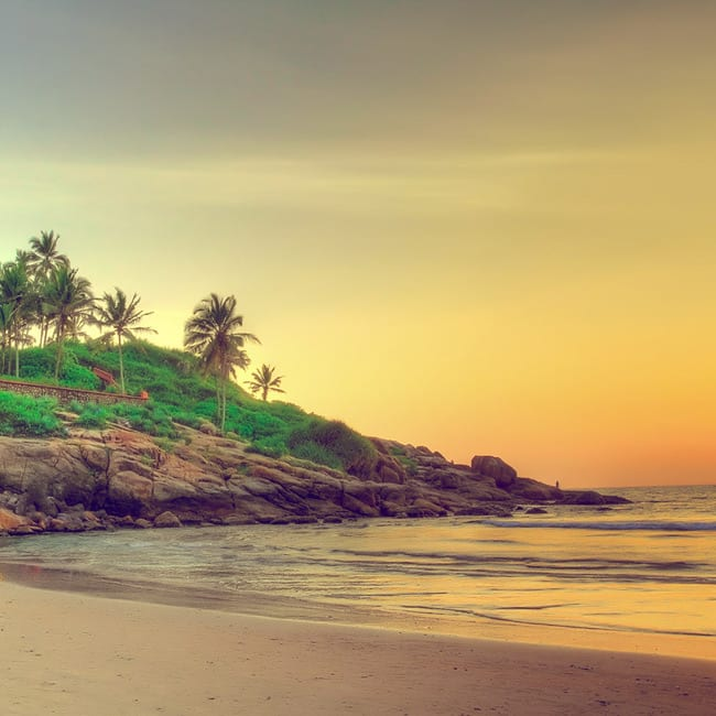 A picture of Kovalam Beach in Kerala