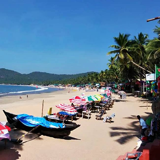 A picture of Palolem beach