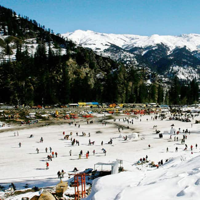 A picture of Solang Valley in Himachal Pradesh