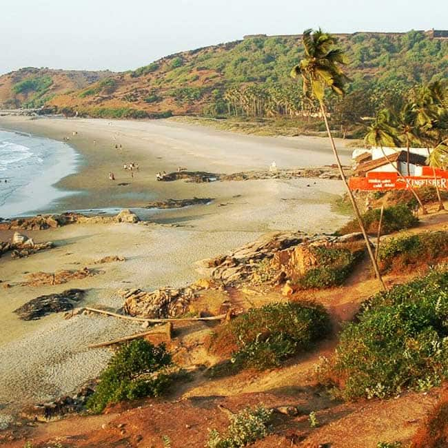 A picture of Vagator beach in Goa