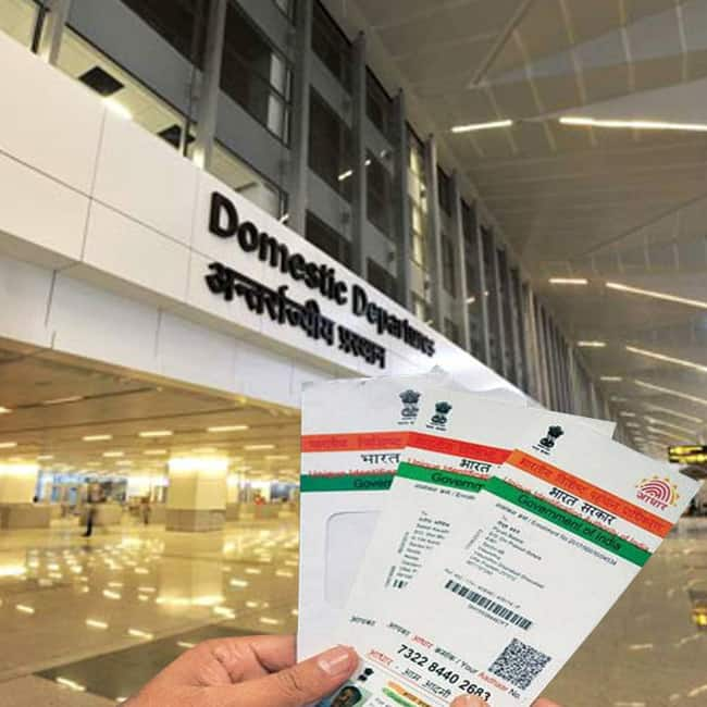 Aadhaar mandatory for entry and exit at domestic airport