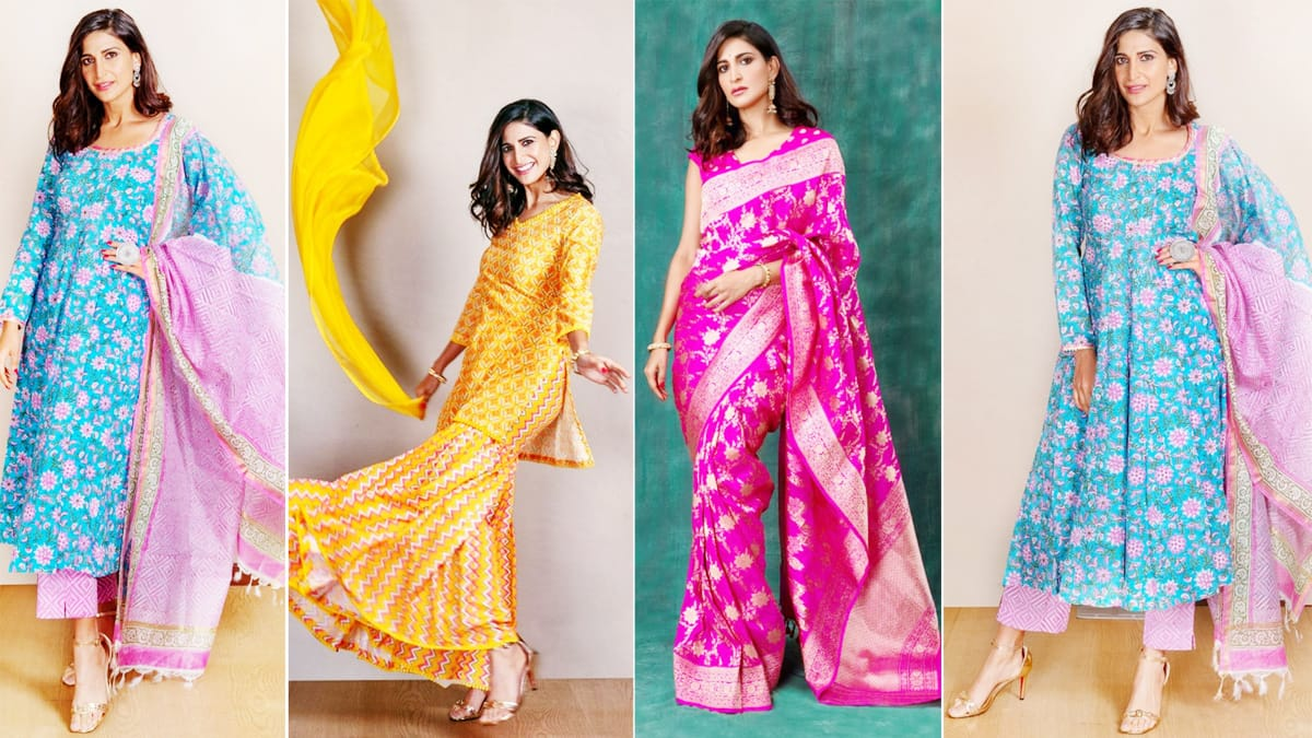 Aahana Kumra looks breathtakingly beautiful in a simple suit