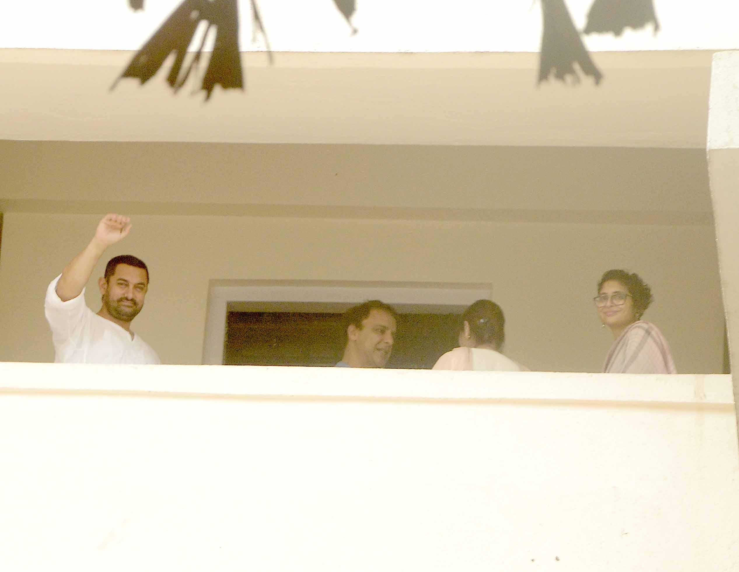 Aamir Khan and Kiran Rao celebrating Eid