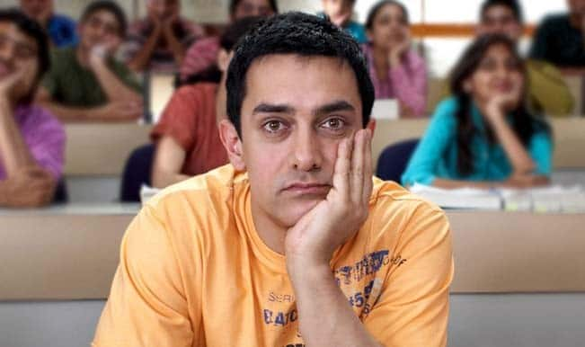 Aamir Khan in a still from movie 3 Idiots