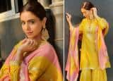 Aamna Sharif Is Giving Us Desi Vibes In A Pastel Pink And Yellow Ethnic Ensemble