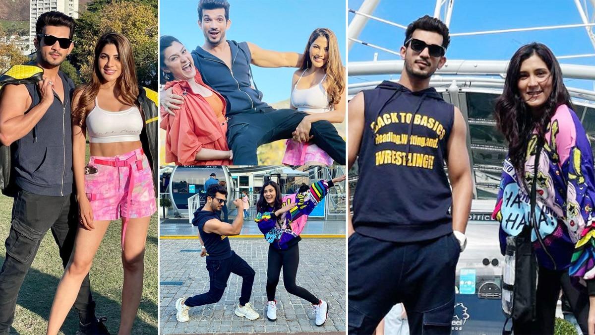 Aastha Gill  Nikki Tamboli and Arjun Bijlani Fun Filled Photos From Khatron Ke Khiladi  Season 11