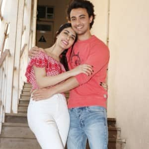 Aayush Sharma And Warina Hussain Look Cute While Promoting Loveratri
