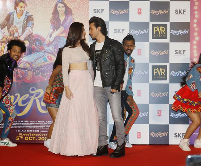 Aayush Sharma and Warina Hussain launch the trailer of their debut movie