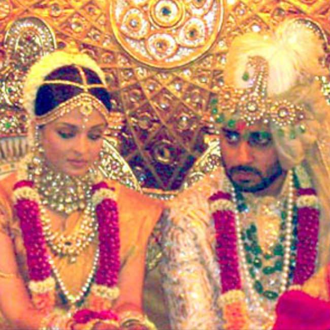 Abhishek Bachchan and Aishwarya Rai Bachchan s wedding inside pics