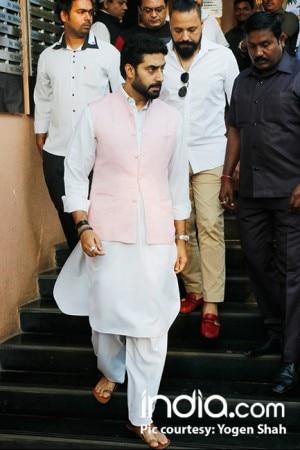 Abhishek Bachchan, Paresh Rawal attend Neeraj Vora's funeral, see pics