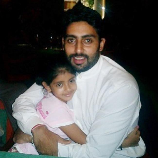 Abhishek Bachchan with you g Navya Naveli Nanda