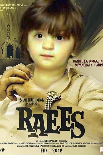 Abram In Shah Rukh Khan S Raees Movie Poster Abram Gives An