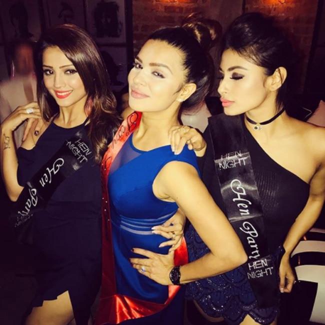 Adaa Khan with Aashka Goradia and Mouni Roy