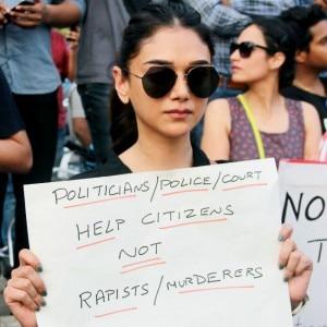Aditi Rao Hydari, Twinkle Khanna protest against Unnao and Kathua rape case, see pics