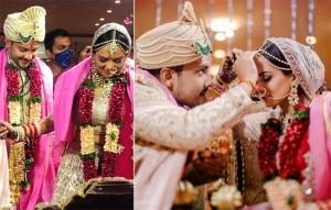 Aditya Narayan-Shweta Agarwal Wedding Album: Udit Narayan Dances in Baraat; Couple Poses Romantically