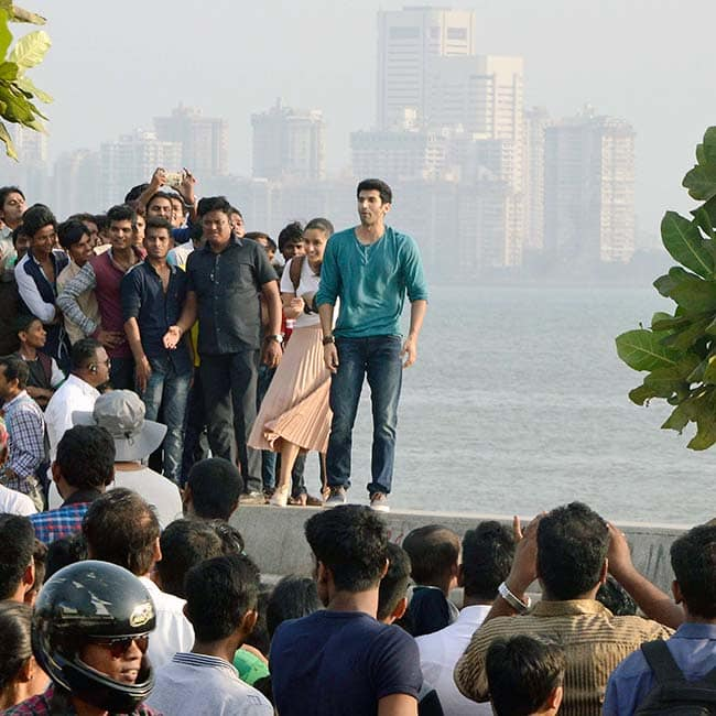 Aditya Roy Kapur and Shraddha Kapoor clicked  while shooting for OK Jaanu