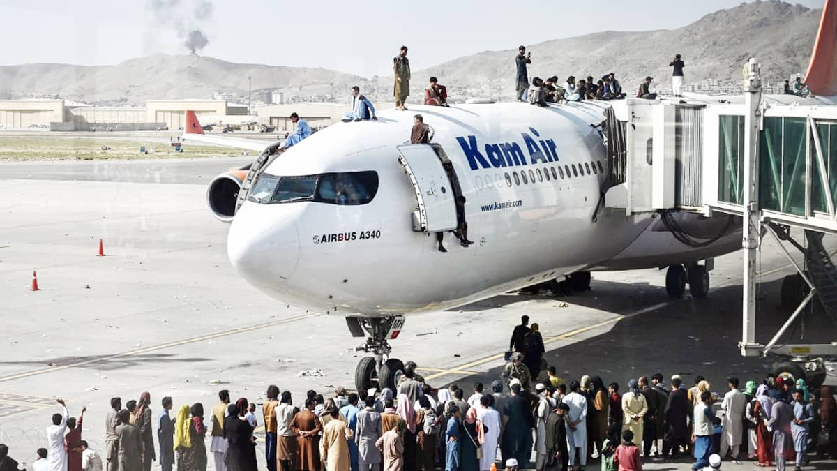 Afghan People At Kabul Airport