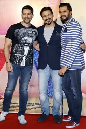 Great Grand Masti trailer launch: Vivek Oberoi, Riteish Deshmukh and Aftab Shivdasani give a dose of laughter during the event