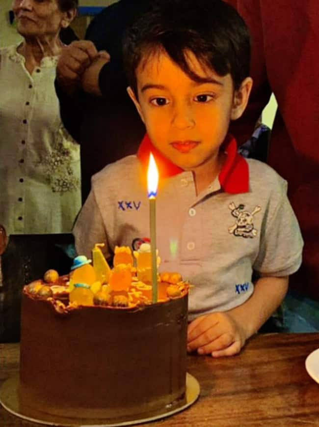 Ahil with his cake