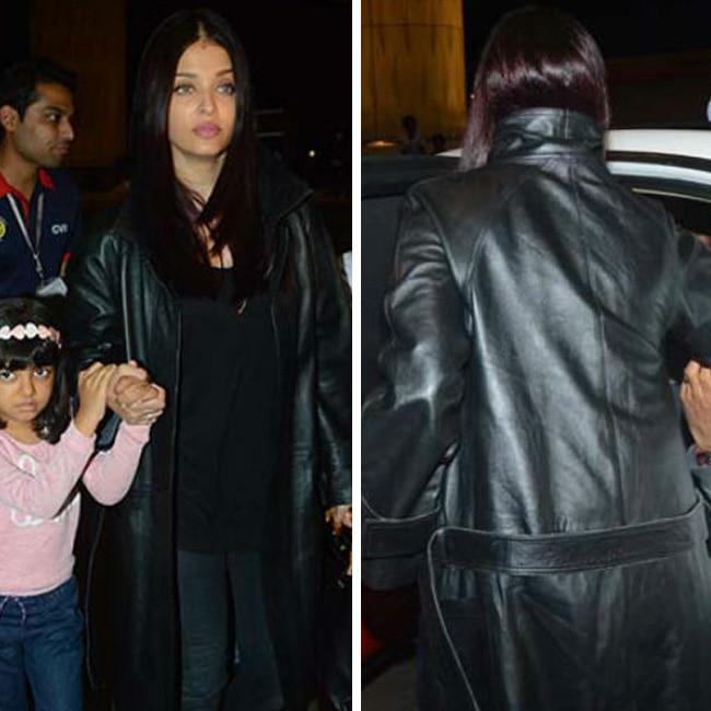 Aishawarya Rai Bachchan with daughter Aaradhya Bachchan at airport