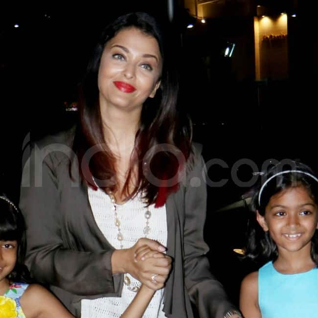 Aishwarya Rai Bachchan with kids