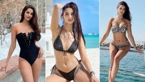 AishwaryaRaiBachchan'sLookalike Mahlagha Jaberi Raises Hotness in Bikini, Swimwear
