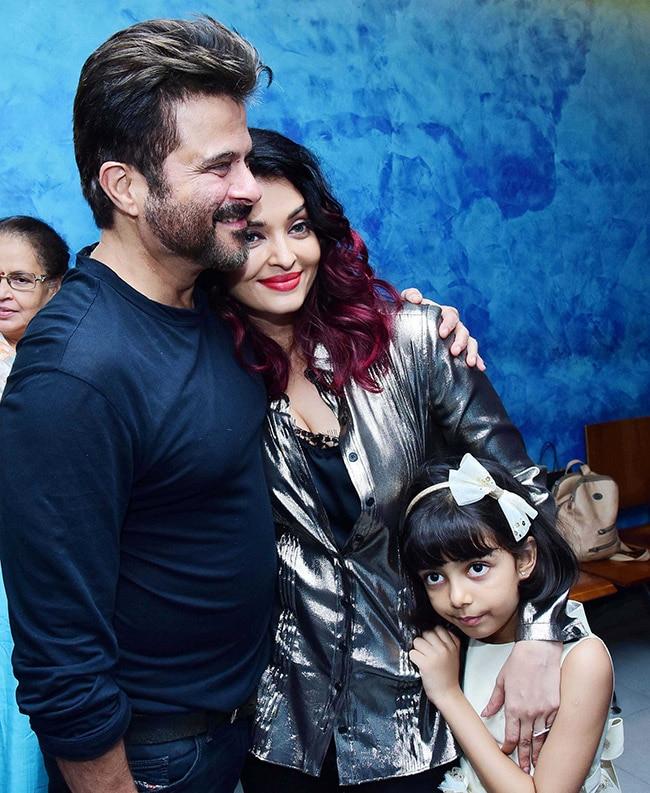 Aishwarya s daughter Aaradhya bonds with Anil Kapoor