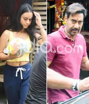 Ajay Devgn And Daughter Nysa Devgn Clicked Outside a Temple in Juhu
