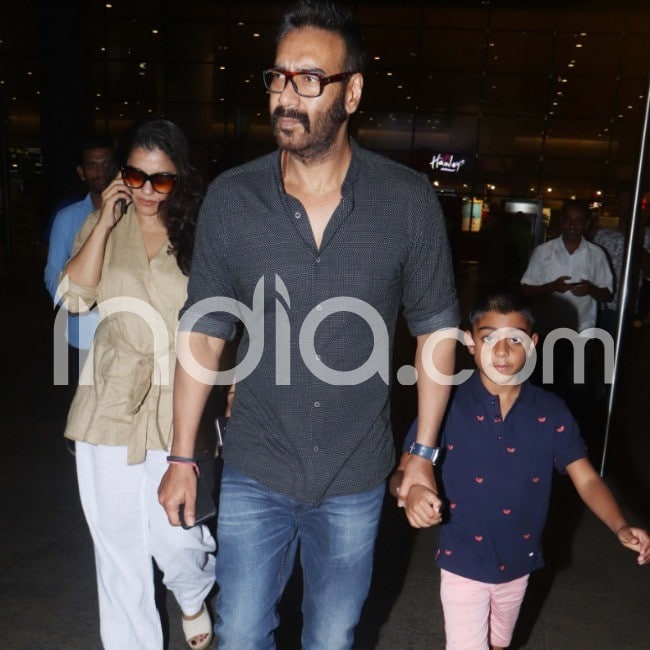 Ajay Devgn with wife Kajol and son Yug Devgn
